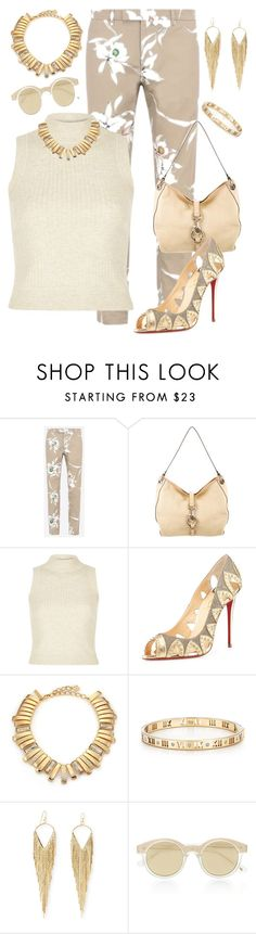 """""""Pretty Neutral Colors Make A Calm Elegant Look"""" by cricketdiane ❤ liked on Polyvore featuring Valentino, Marc Jacobs, River Island, Christian Louboutin, Oscar de la Renta, Tiffany & Co., Jules Smith, Le Specs, Summer and Spring"""