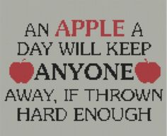 Looking for your next project? You're going to love Apple A Day Cross Stitch Pattern  by designer Motherbeedesigns. - via @Craftsy