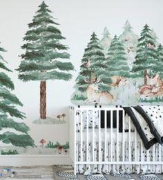 Nálepky na stenu Forest dokonale zdobia každú izbičku.  Nálepka je vytlačená na matnej fólií. Nálepka obsahuje jelenčekov a stromčeky, ktoré sú vo viacerých veľkostiach. Nálepka môže zdobiť nie len steny, ale aj nábytok a okná a vytvoriť tak jedinečný dizajn detskej izbičky. Baby Room, Ale, Stickers, Design, Poster, Babies Nursery, Baby Rooms, Ale Beer, Sticker