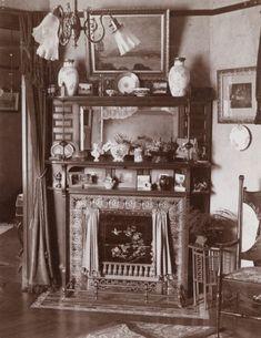 Victorian-Era Decorative Fireplace