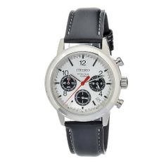 Seiko Men's SSB013 Quartz Chronograph Stainless Steel Watch Seiko. $99.95. Chronograph watch,metal case. Quartz movement. Durable mineral crystal protects watch from scratches,. Case diameter: 40 mm. Water-resistant to 100 M (330 feet)