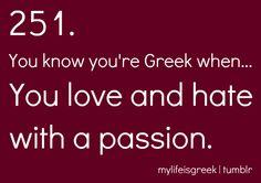 pretty sure I got my passion from my Greek side Greek Memes, Funny Greek, Greek Quotes, Greek Sayings, Greek Girl, Go Greek, Church Humor, Greek Easter, Greek Culture