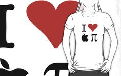 I Love Apple Pie T-Shirt  - Alternative for light t-shirts by Adam de la Mare  I could eat 3.14 of them now!   Available online at www.brotheradam.com.au ... The best place for funny, cool, parody, geek, topical, music, retro and just plain ridiculous t-shirts!