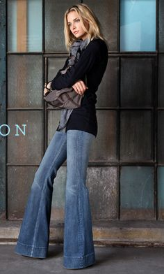 anyone who knows me...knows my love for a good bell bottom jean. :)