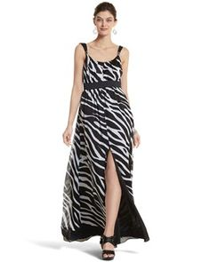 I DIE...Zebra-Print Maxi Dress - White House | Black Market