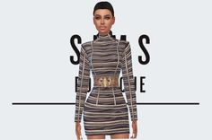 Balmain Pre-Fall 2013 Dress (as seen on Kylie Jenner at the 2015 Billboard Music Awards) DOWNLOAD HERE: [x] Mesh needed by the fabulous @greenapple18r for this to show up: [x] Credits:Hair retexture by the wonderful @missparaply Lipstick by the...