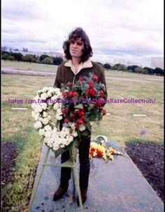 "Jim Morrison more or less randomly. - ""Jim Morrison more or less randomly at a cemetary, by Guy Webster "" Blues Rock, Ray Manzarek, Jim James, The Doors Jim Morrison, Pam Morrison, Morrison Hotel, The Doors Of Perception, American Poets, American Horror"