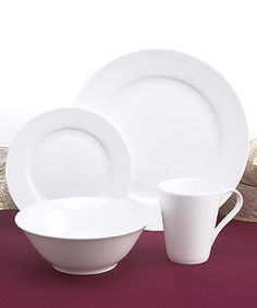 Rhubarb 16-piece Bone China Dinnerware Set | Overstock.com Shopping - The Best  sc 1 st  Pinterest : rectangular dinnerware - pezcame.com
