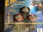 10 Ultra Bright LED Headlamp / Torch Headlight 3 Pack inc Duracell Batteries on eBay for £6.99