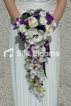 Beautiful white and purple bouquet