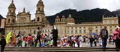 Igreja da Candelária, que dá nome ao bairro colonial mais famoso de Bogotá, capital da Colômbia Foto: Diego Mendes