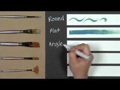 Fine Art 101: Brush Tips & Strokes