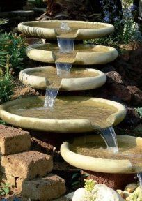 Best Tabletop Fountain - ideas and images Yard Water Fountains, Diy Water Fountain, Diy Garden Fountains, Small Fountains, Water Garden, Table Fountain, Fountain Ideas, Outdoor Fountains, Indoor Waterfall