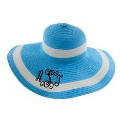 Monogrammed Floppy Hat by SorostiCUTE on Etsy, $26.00