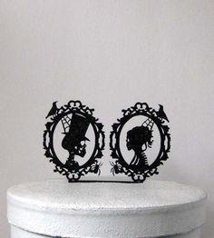 FRANKENSTEIN /& BRIDE FIGURINE SKELETON HALLOWEEN WEDDING CAKE TOPPER.COOL 8581S
