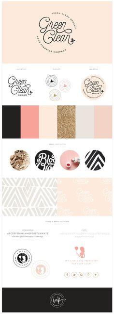 Brand Launch: Green Clean Co. | brand, branding, brand styling, logo | by www.saltedink.com