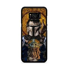 The Mandalorian And Baby Yoda Stained Glasses Art Samsung Galaxy Case Galaxy S8 Phone Cases, Samsung Galaxy, Iphone Cases, Art Case, Plastic Material, S8 Plus, Mandalorian, Perfect Fit, Glasses