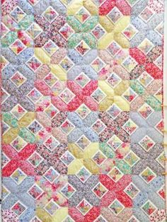 SOS Gallery 2018 - Alice Caroline - Liberty fabric, patterns, kits and more - Liberty of London fabric online Liberty Quilt, Liberty Blue, Liberty Of London Fabric, Liberty Fabric, Project Smile, Cathedral Window Quilts, Disappearing 9 Patch, Geometric Quilt, Striped Quilt