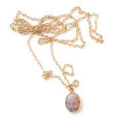 Boulder Opal & Diamond Necklace