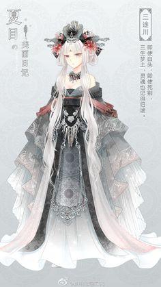 夏目的美丽日记 三途川 Anime Art Girl, Manga Art, Anime Girls, Anime Fashion, Anime Pokemon, Kleidung Design, Anime Dress, Dress Drawing, Illustration