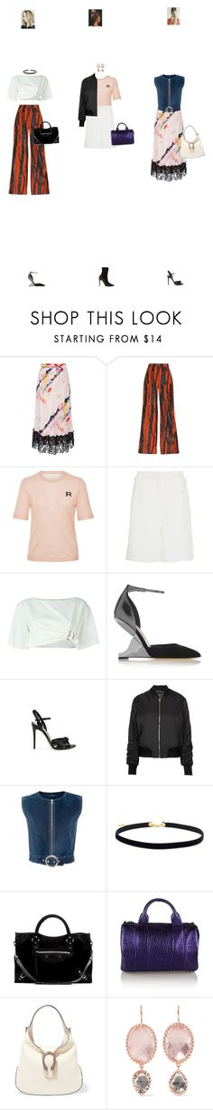 """Nov. 07, 2016"" by chocohearts08 ❤ liked on Polyvore featuring Cynthia Rowley, Loewe, Rochas, Zayan The Label, Pierre Hardy, Roberto Cavalli, Jimmy Choo, Gucci, Topshop and Derek Lam"