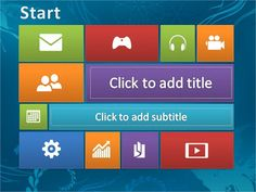 "Inspired by Windows 8, Windows 8 4presentation.net Animated templates offered. Design templates already with Hyperlink, the link to the slides that have been determined simply by clicking a box that is provided. The inscription on the box can be changed at will or according to the title page slide to be addressed. for example ""Go to Slide 2"" can be changed by writing your own."