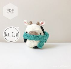 Crochet Cow, Crochet Chain, Crochet Patterns Amigurumi, Crochet Hooks, Crocheting Patterns, Macrame Patterns, Cow Gifts, Yarn Dolls, Crochet Abbreviations