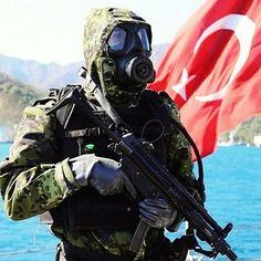 Turkish Soldier in drill