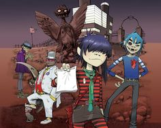 Another love for life, a perfect combination of arts - Gorillaz