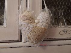 Valentines Heart Valentines Gift Shabby Chic Heart by decocarin