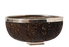 carved coconut bowl - it would look just as amazing with samoan designs....