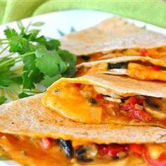 Farmer's Market Vegetarian Quesadillas. Delicious!