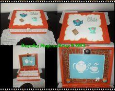 Caixa de chá com miniaturas1