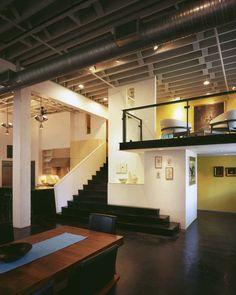 Loft- dream! Recessed lighting, exposed ceilings, pops of colours and dark hardwood floors! <3