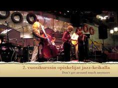 Kymen Konservatorion 2.vuosikurssin opiskelijat jazz-keikalla.