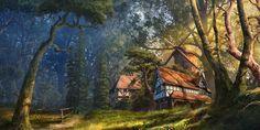 ArtStation - village, Sergey Hudyakov