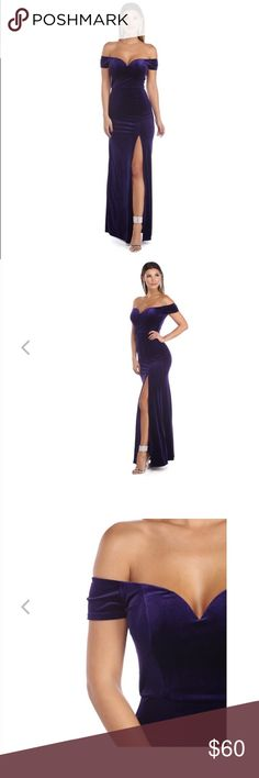 💕PROM Dress💕 Windsor Black Suede Evening Gown 💕PROM Dress💕 Windsor Black Velvet Evening Gown - IN BLACK  **** the stock photos attached are to give you an idea as to how and where the sleeves fall and exact length of dress ****  - I have attached photos of my dress, same style, but BLACK VELVET- 👋🏼💕😘 Windsor Dresses Prom