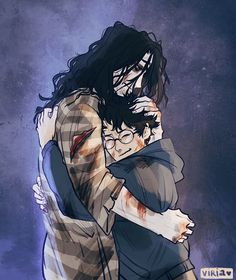Harry Potter & Sirius Black😭😭💔 Art by Viria Harry Potter Tumblr, Fanart Harry Potter, Harry Potter Poster, Images Harry Potter, Harry Potter Sirius, Arte Do Harry Potter, Harry Potter Drawings, Harry Potter Wallpaper, Harry Potter Facts