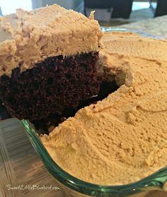Chocolate Peanut Butter Crazy Cake - Sweet Little Bluebird Baking Recipes, Cake Recipes, Dessert Recipes, Chocolate Peanuts, Chocolate Peanut Butter, Peanut Butter Fudge Cake, Peanut Butter Eggs, Peanut Butter Frosting, Super Moist Chocolate Cake