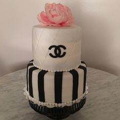 Simple Chanel cake #chanel #cake #love