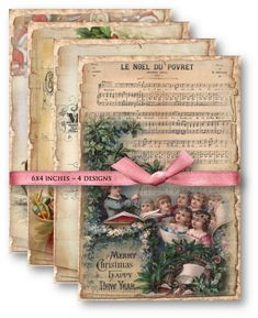 Digital Collage Sheet Download  Vintage Christmas von vintagebyme