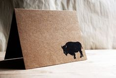 Buffalo Card Set using Hand Carved Design  Five by subtleacts, $10.00