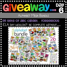The School Supply Addict is having an AMAZING giveaway----Alphabet Mega Bundle!