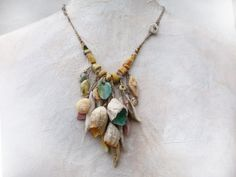 RESERVED  Artisan Necklace porcelain textile by greybirdstudio, £160.00