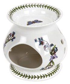 """Portmeirion Botanic Garden Oil Burner by Portmeirion--A timeless classic, Botanic Garden is a most recognizable collection in ceramics.  The beautiful floral motifs and surprising butterflies make everyday occasions special.  5"""" (13 cm) high"""