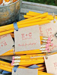 Regalos de boda: Lapices personalizados