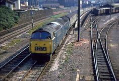 FEB 74 Western Campaigner passing Lawrence Hill with the Saturdays-only Paignton-Swansea. Electric Locomotive, Diesel Locomotive, Train Pictures, British Rail, Old Trains, Train Engines, Swansea, Steam Engine, Looks Cool