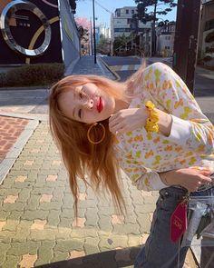 ig: November 02 2019 at fashion-inspo Triple H, Hyuna Kim, Strawberry Hair, Park Jimin Cute, Rapper, E Dawn, Sulli, Summer Dress Outfits, My Muse