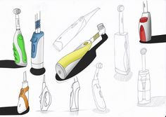 Electrical Toothbrush sketches by Joaquín Ginés Martí
