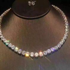 Diamond Tennis Necklace, Diamond Pendant Necklace, Diamond Jewelry, Diamond Rings, Fashion Jewelry, Women Jewelry, Accesorios Casual, Cute Jewelry, Geek Jewelry